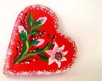 Coeur illustré 1 de valentine Images libres de droits