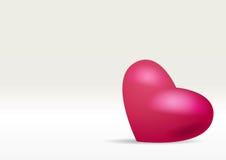 Coeur isolé Image libre de droits