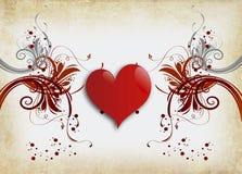 Coeur isolé Photos libres de droits