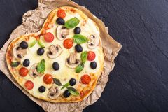 Coeur italien de pizza Photos libres de droits