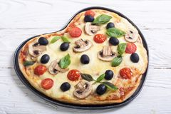 Coeur italien de pizza Images libres de droits
