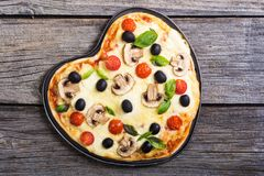 Coeur italien de pizza Photo libre de droits