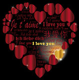 Coeur   Je t'aime dans les langues Photos libres de droits