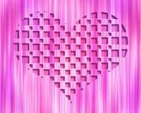 Coeur léger de l'abstrait 3D Images stock