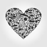 Coeur l'arme Image libre de droits