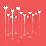 Coeur le jour de Valentine Icône de coeur avec l'ombre Photos stock