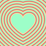 Coeur Le jour de Valentine Illusion optique rétro Illustration de Vecteur