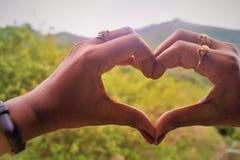 Coeur le symbole de l'amour et de la joie Images libres de droits