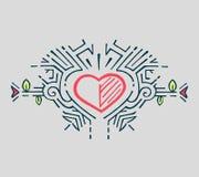 Coeur linéal Photographie stock libre de droits