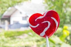 coeur-lucette rouge, amour de concept Image stock