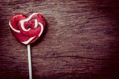 coeur-lucette rouge, amour de concept, valentine Images libres de droits