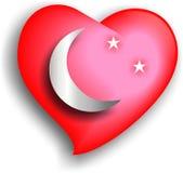 Coeur, lune et étoiles Image libre de droits