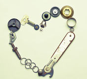 Coeur mécanique Photographie stock libre de droits