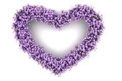 Coeur magenta Photos stock