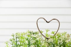 Coeur minable en métal Photo stock