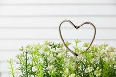 Coeur minable en métal Images stock