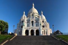 Coeur na submissão de Montmartre, Paris de Sacre Fotos de Stock Royalty Free
