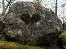 Coeur naturel de roche Image stock