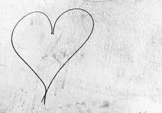 Coeur noir Image libre de droits