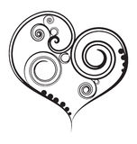 Coeur noir de conception Image libre de droits