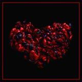 Coeur noir et rouge texture d'encre acrylique abrégez le fond Photographie stock libre de droits