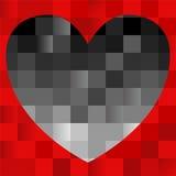 Coeur noir sur le rouge Photos libres de droits