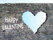 coeur non en pierre Photos libres de droits
