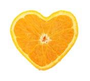 Coeur orange photos libres de droits