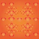 Coeur ornemental avec des feuilles Photos stock