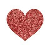 Coeur ornemental sur le fond blanc Image libre de droits