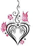Coeur, papillons Photos stock