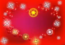 Coeur par l'étoile d'étincelle avec la bulle brillante Image stock