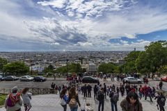 coeur Paris sacre widok zdjęcie royalty free