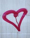Coeur peint Images stock