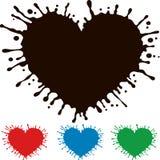 Coeur peint avec l'éclaboussement Photos libres de droits