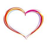 Coeur peint Photo stock