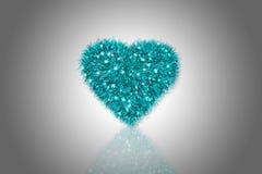 Coeur pelucheux Images libres de droits
