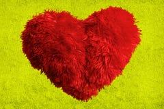 Coeur pelucheux Photos stock