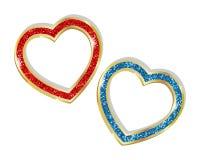 Coeur pendant dans un cadre Photographie stock