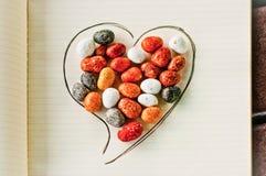 Coeur, pierres et crayon 3 Photographie stock libre de droits