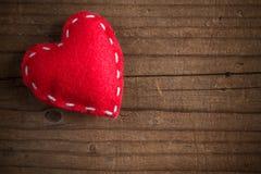 Coeur piqué de feutre Image stock