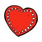 coeur piqué par bande dessinée Photos libres de droits