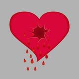 Coeur pleurant Coeur cassé Photos stock