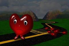 Coeur pleurant triste Photographie stock libre de droits