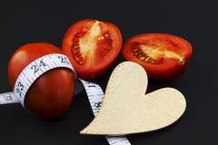 Coeur, poids, et régime sains Photo stock