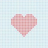 Coeur pointillé par vecteur Photos libres de droits