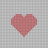 Coeur pointillé par vecteur Photos stock