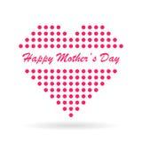 Coeur pointillé pour le jour de mère Image libre de droits