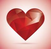 Coeur polygonal illustration de vecteur