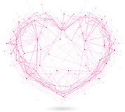 Coeur polygonal Images stock